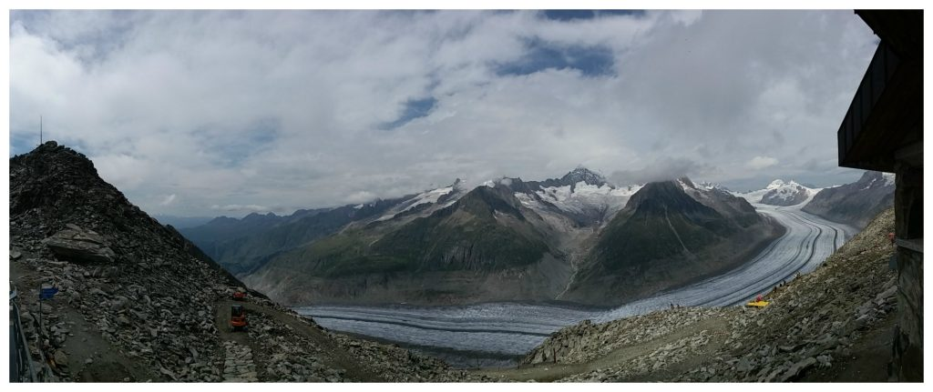Aletsch glacier seen from Eggishorn mountain