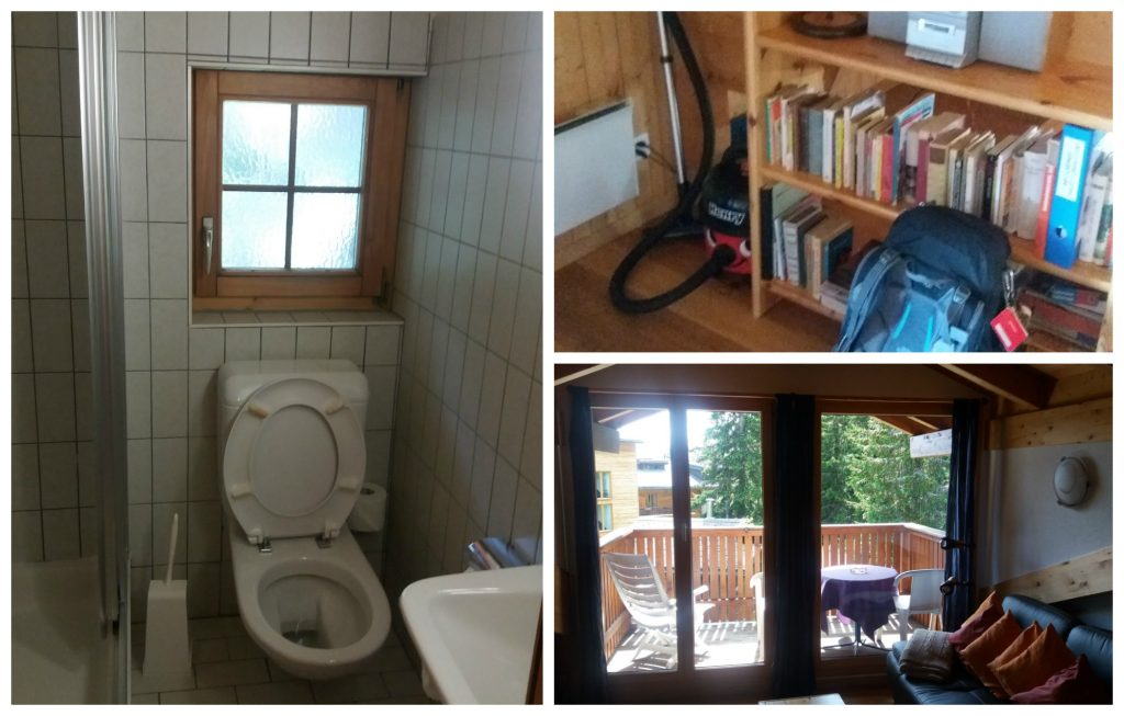 Bathroom, lounge & balcony