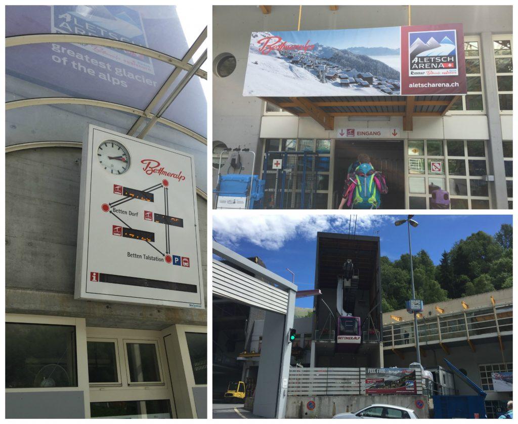 Bettmeralp Gondola to the Aletsch Arena