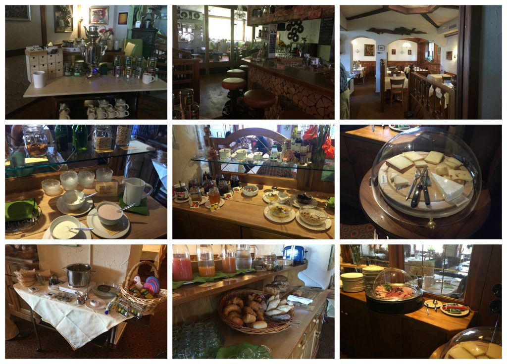 Breakfast buffet in the Waldhaus hotel
