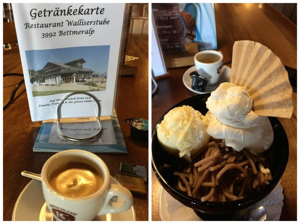 Coffee & Vermicelli at Restaurant Walliserstube Bettmeralp