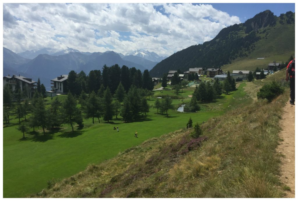 Golf course and village on Riederalp