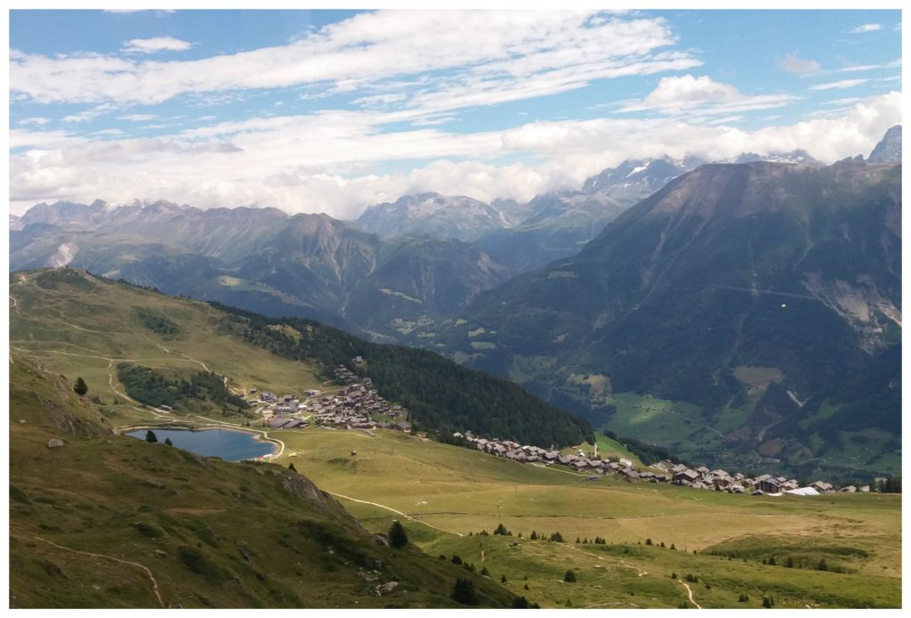 Looking down over the Bettmeralp & Bettmersee
