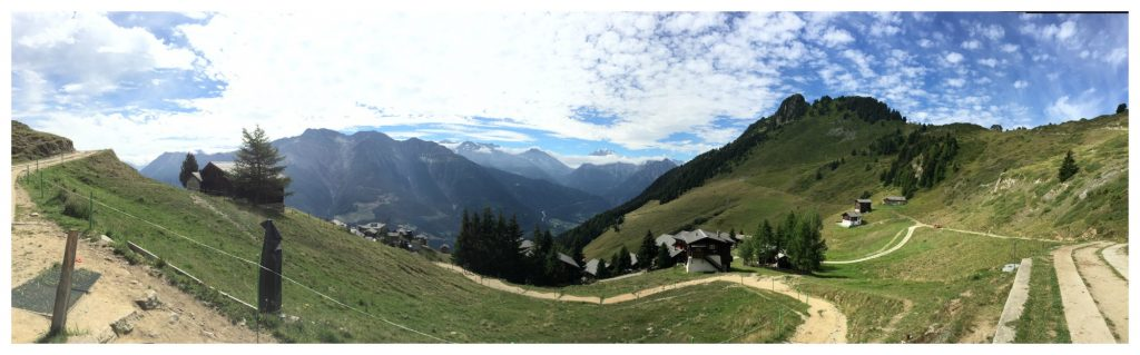 Looking down to Riederalp and up to Riederfurka