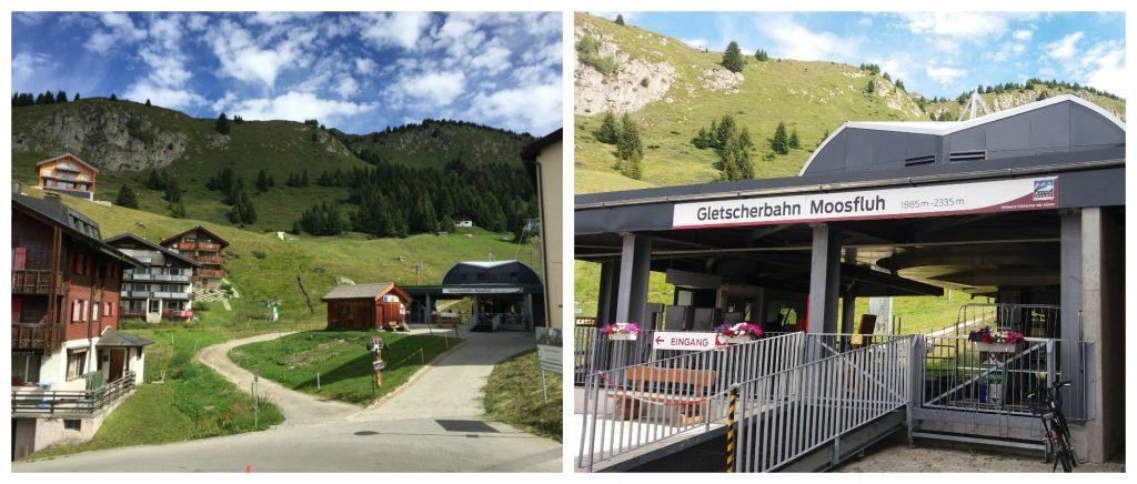 Moosfluh Gletscherbahn from Riederalp base