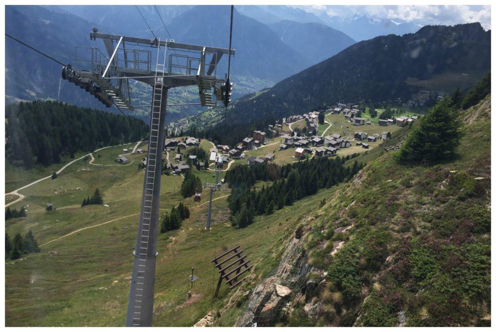 Moosfluh gondola down to Riederalp base