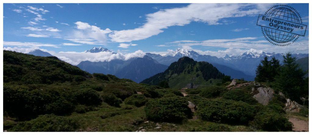 Mountain range view from Hohfluh 2227m