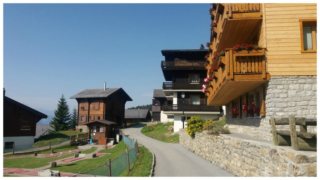 New and old chalets to rent and a mini golf park