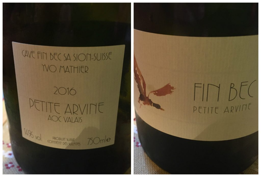 Petite Arvine from Fin Bec