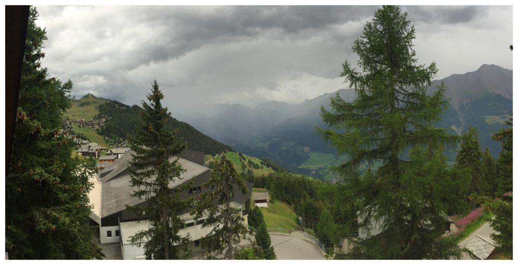 Rain moving in towards the Bettmeralp