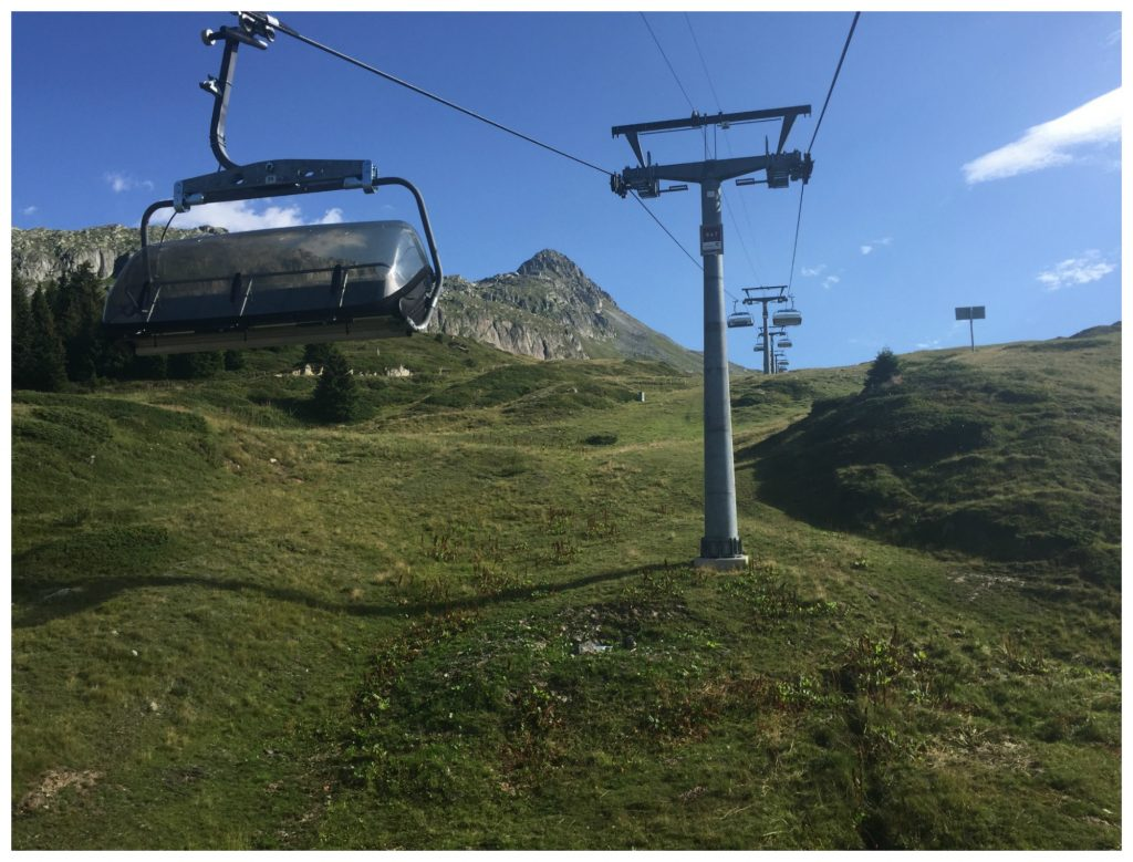 The 6 seater chair lift going to Shönbiel