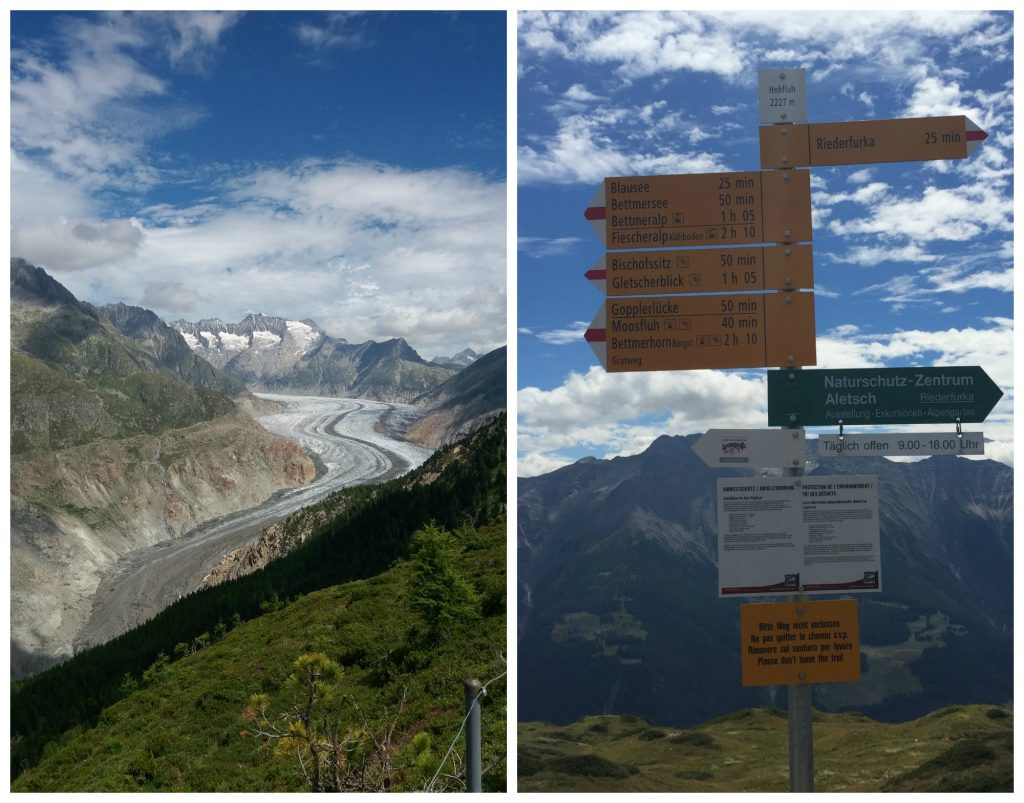 The Aletsch Glacier & walking directions