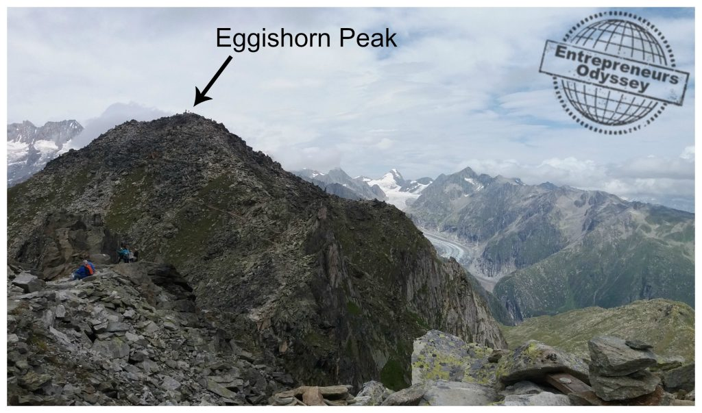 The actual Eggishorn peak is still a walk away
