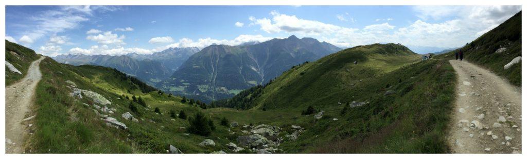 The walk back from Fiescheralp