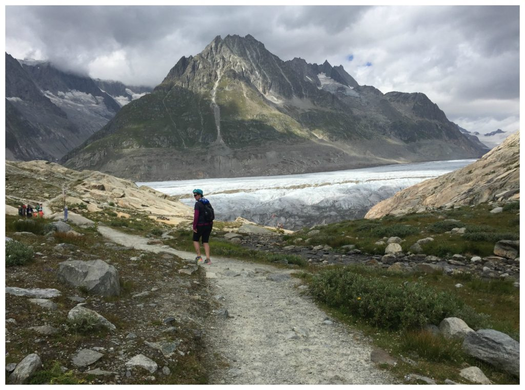The walk down towards the Aletsch Glacier