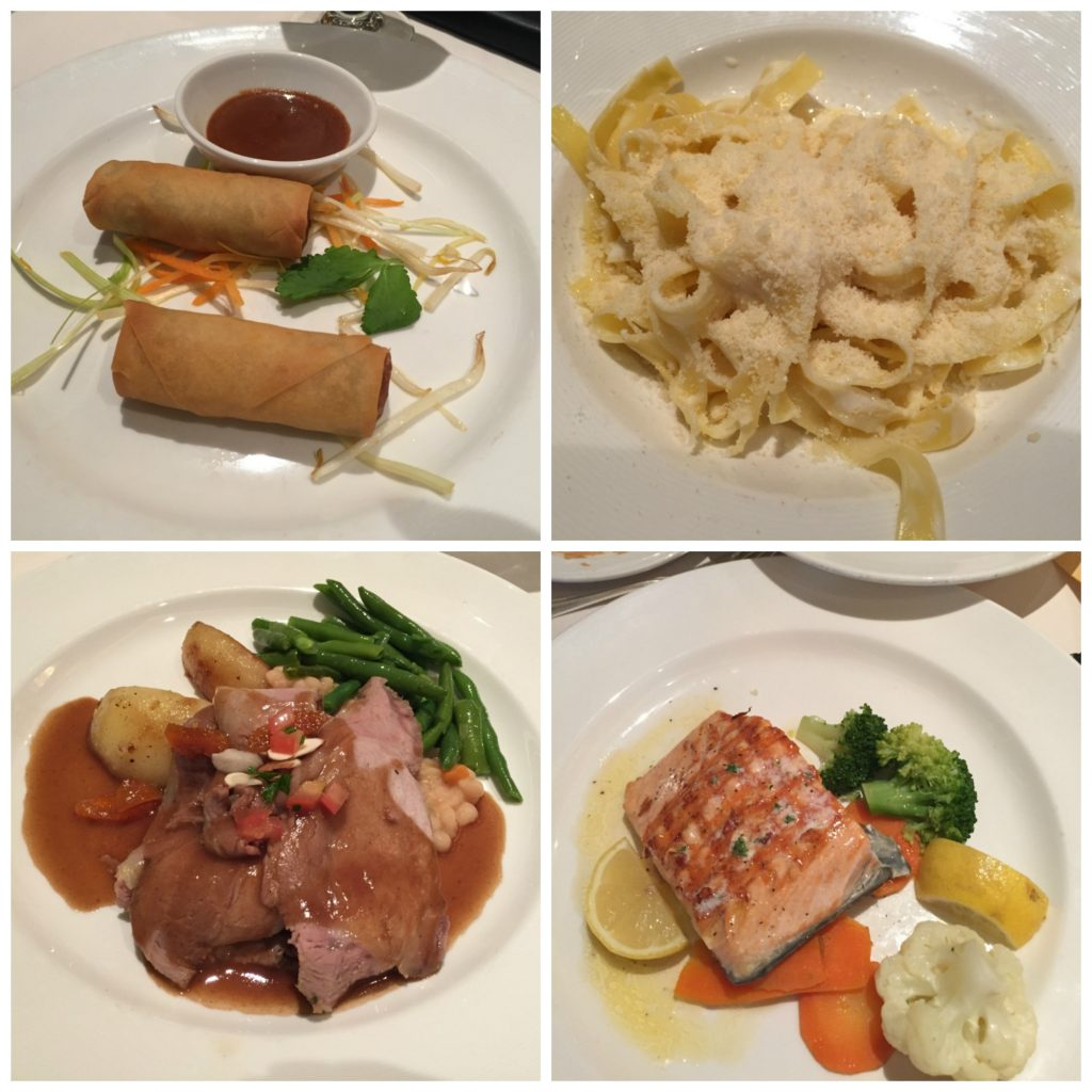 Dining room meals on Crown Princess