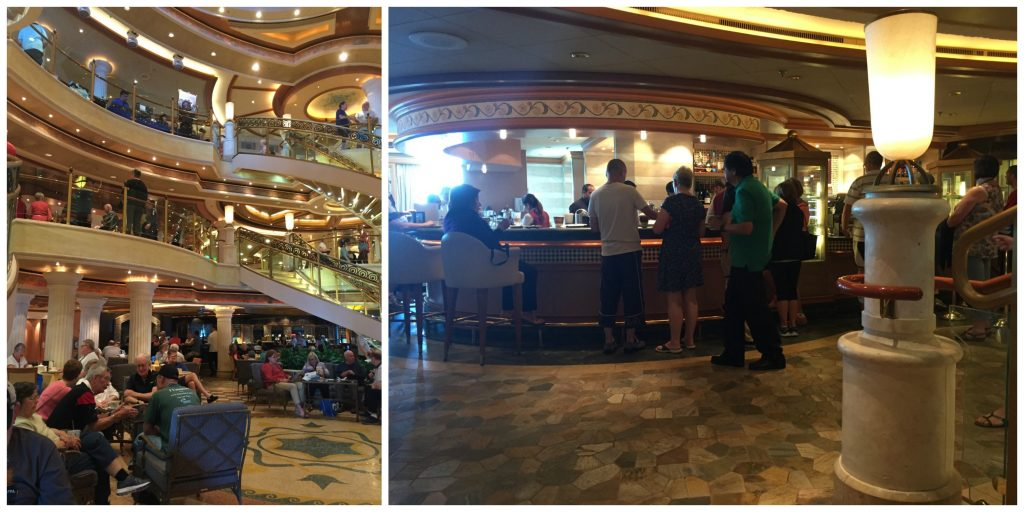 International Cafe in the Atrium on Crown Princess