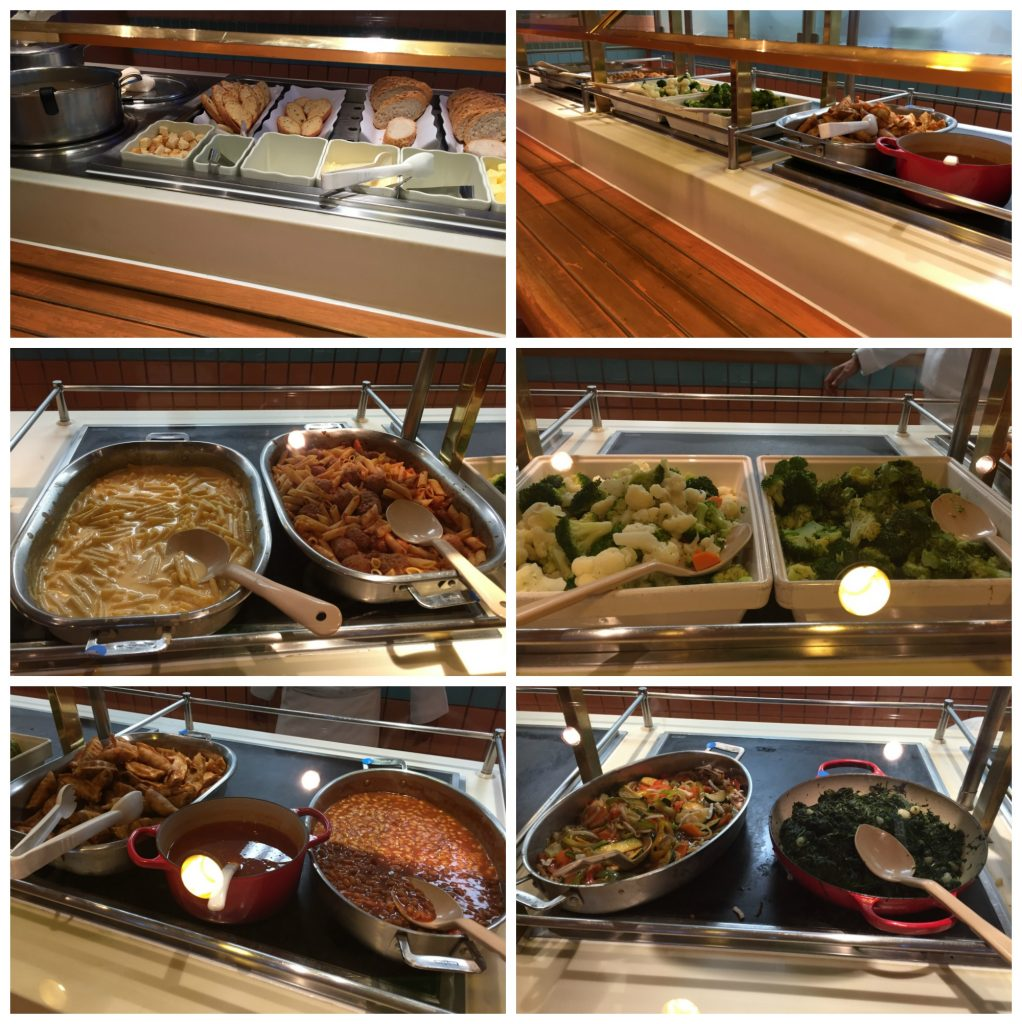 Lunch buffet at Horizon court on Crown Princess