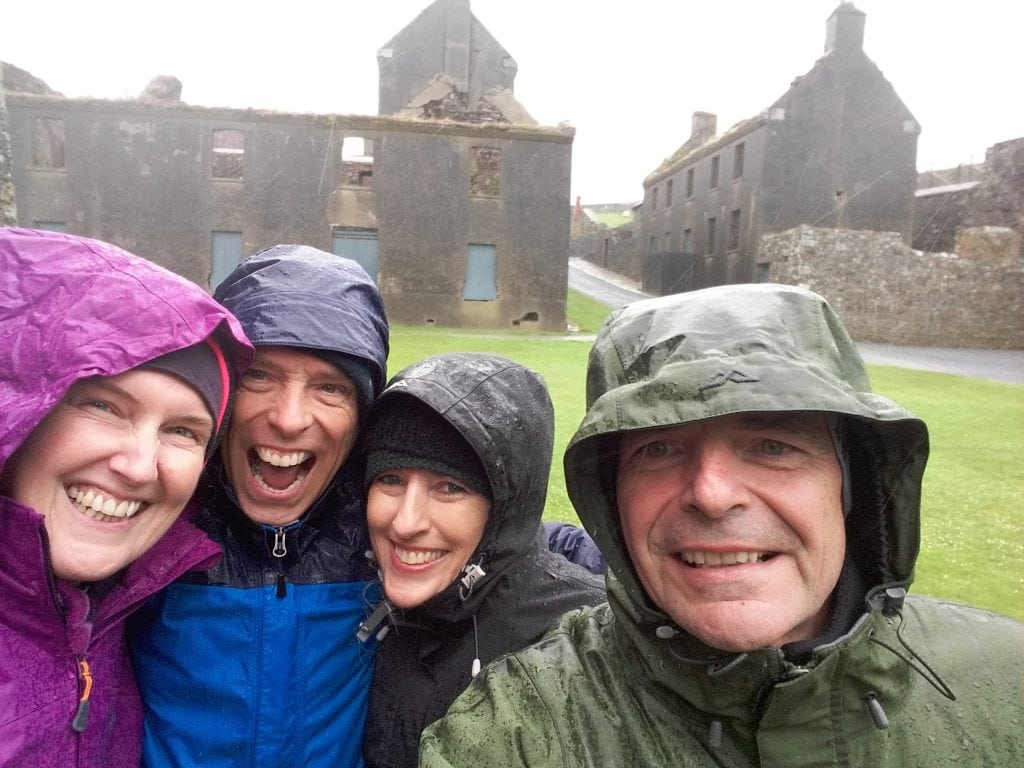 Wet but having fun at Charles Fort Kinsale