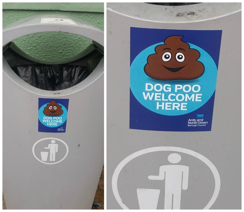 Dog poo bin in N.Ireland