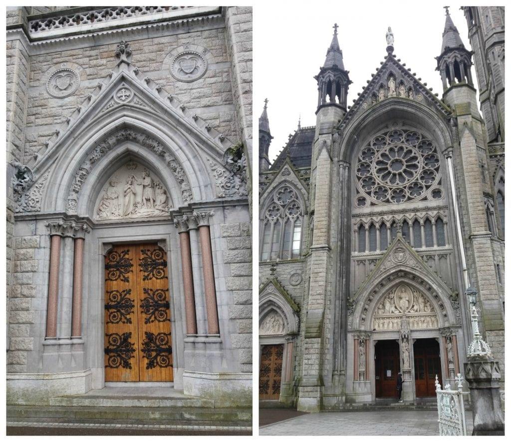 Impressive front of St Colmans Cathedral