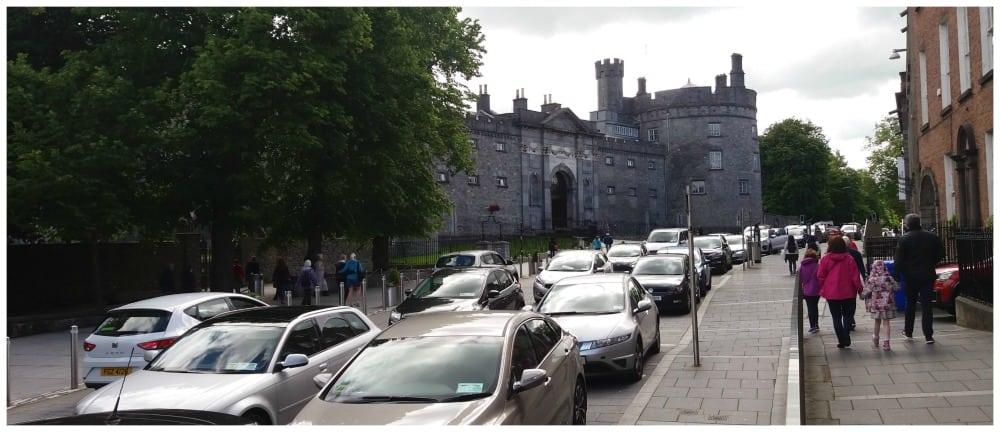 Kilkenny castle in the town