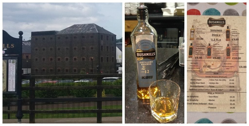 Tasting at Bushmills Distillery