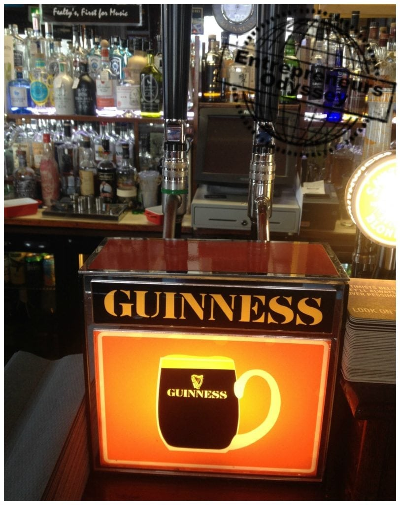 Twin tap Guinness in Fealty's pub N.Ireland