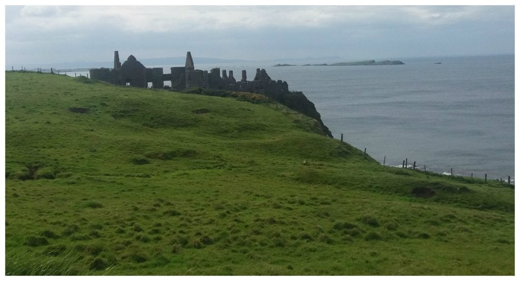 Dunluce Castle on the cliffs
