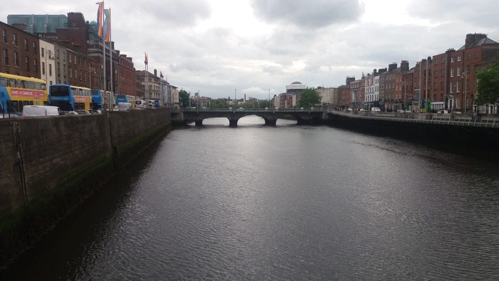 Dublin bridges over the river Liffey