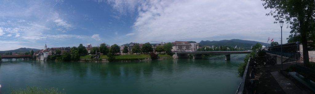 Aare river through Olten