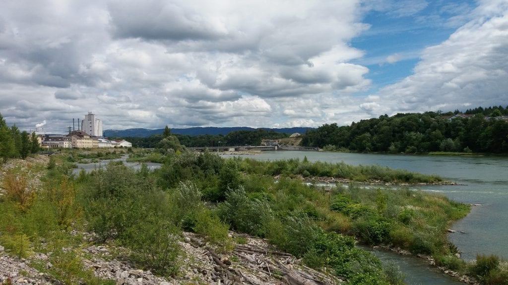 Rhine river Rheinfelden Switzerland