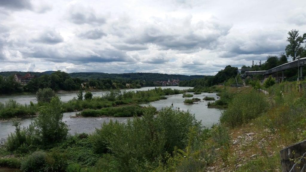 Rhine river Rheinfelden (Baden) Germany