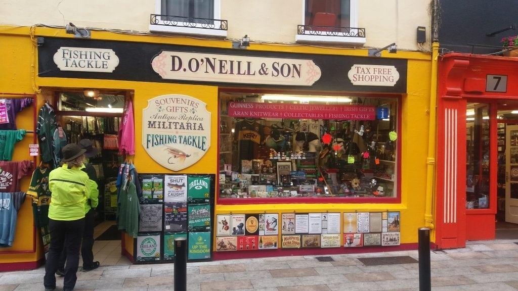 Colourful shops in Killarney