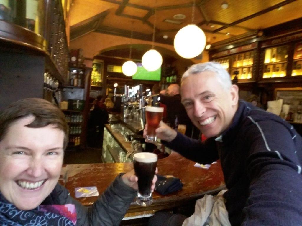 Beers in Galway Pub