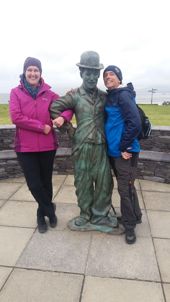 Waterville on Ring of Kerry with Charlie Chaplin