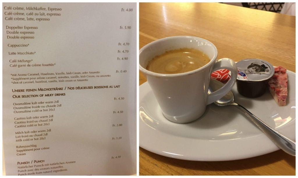 Coffee at Kambly