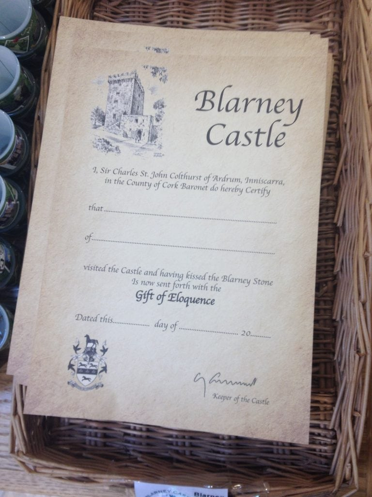 Blarney Stone Certificates