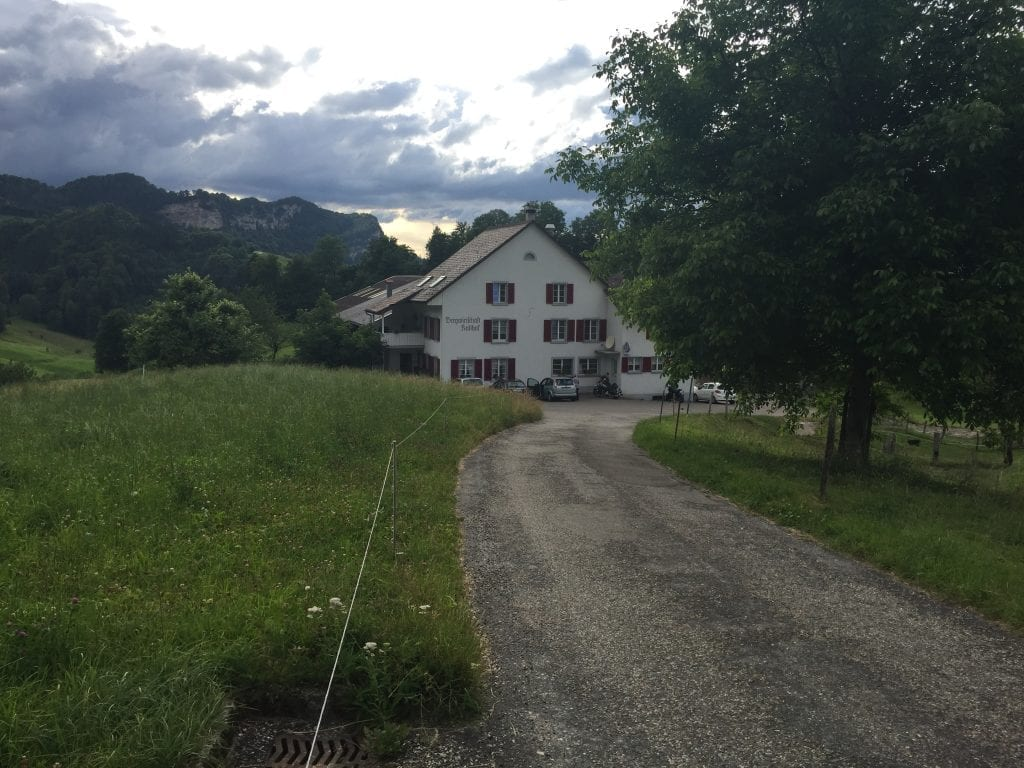 Walk back down to Bergrestaurant Kallhof