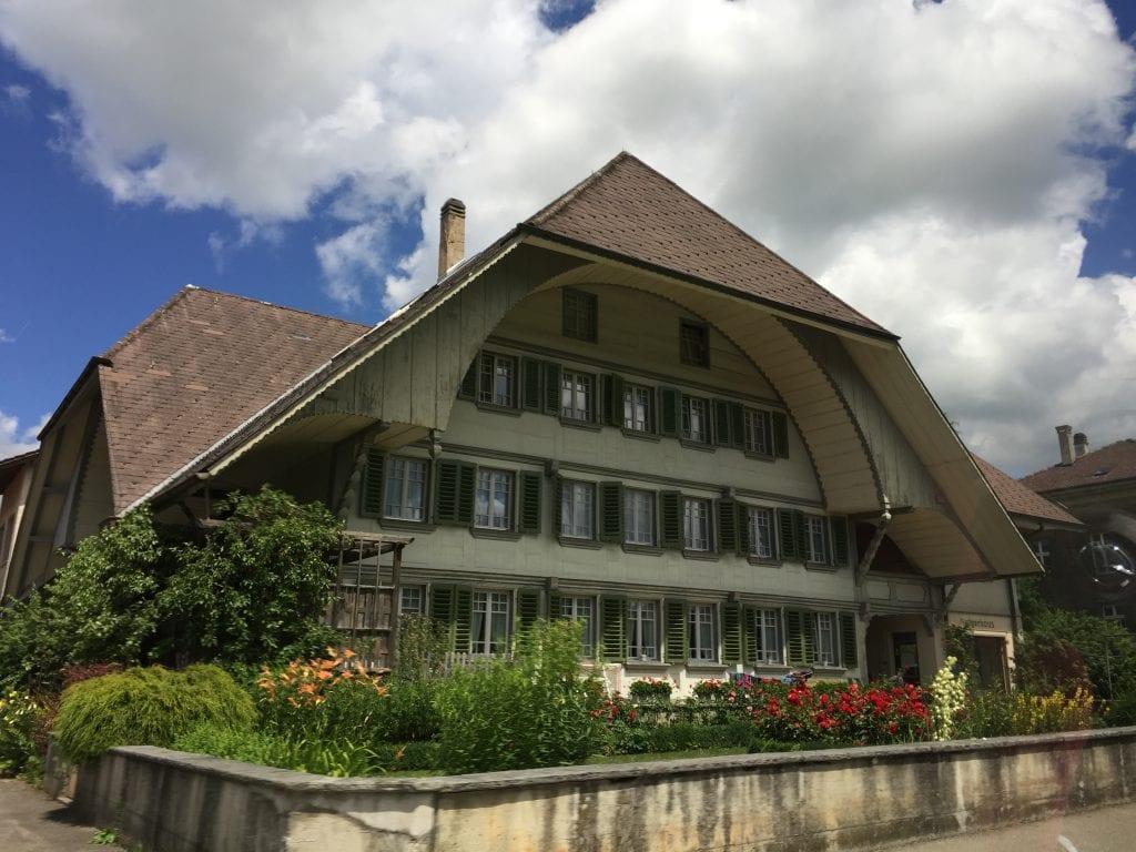 Buildings nearby Emmental in Switzerland