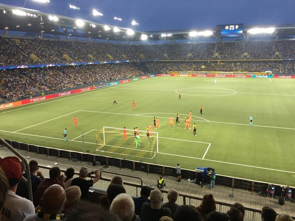Stade de Suisse, YB v Moskau 2017