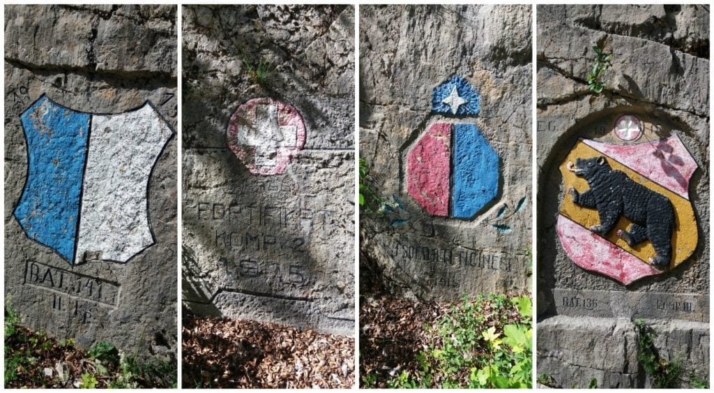 Military Coat of Arms on the walk to Belchenflue