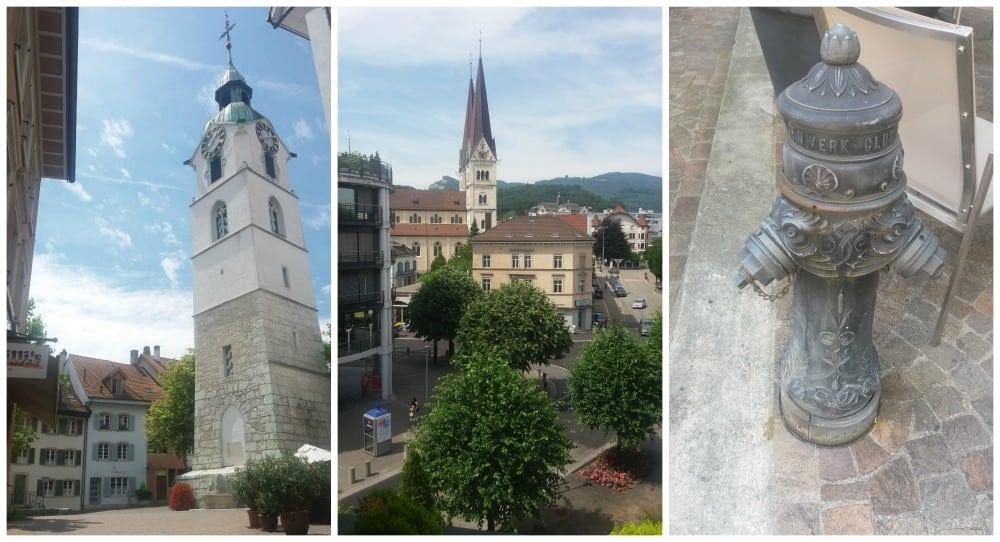 Stadtturm auf dem Ildefonsplatz & St Martins Church Olten