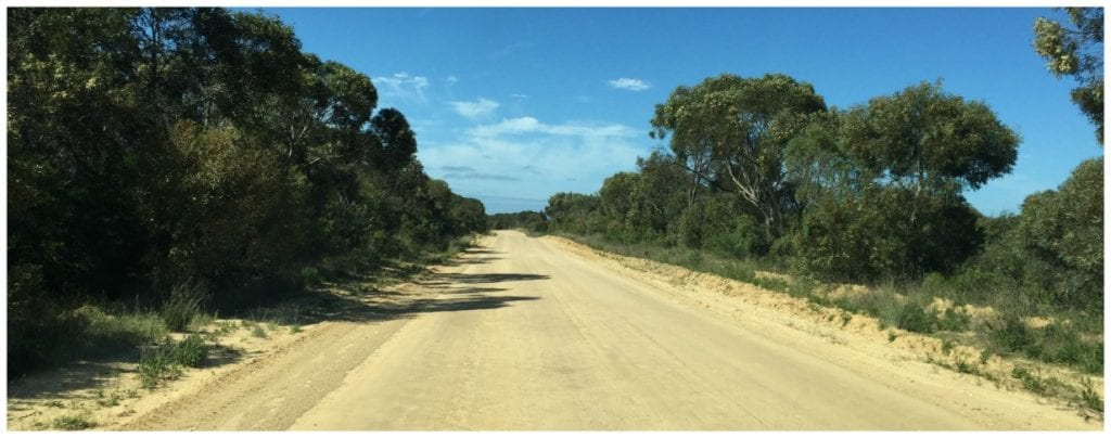 Dirt roads on the Eyre Peninsula