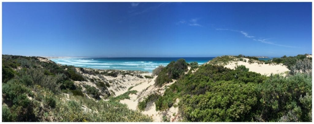 Huge sand dunes at Coffin Bay National Park