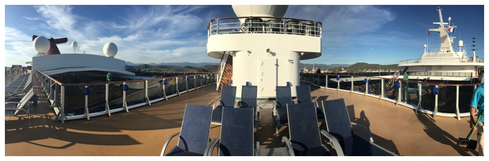 Carnival Legend Sun deck panorama