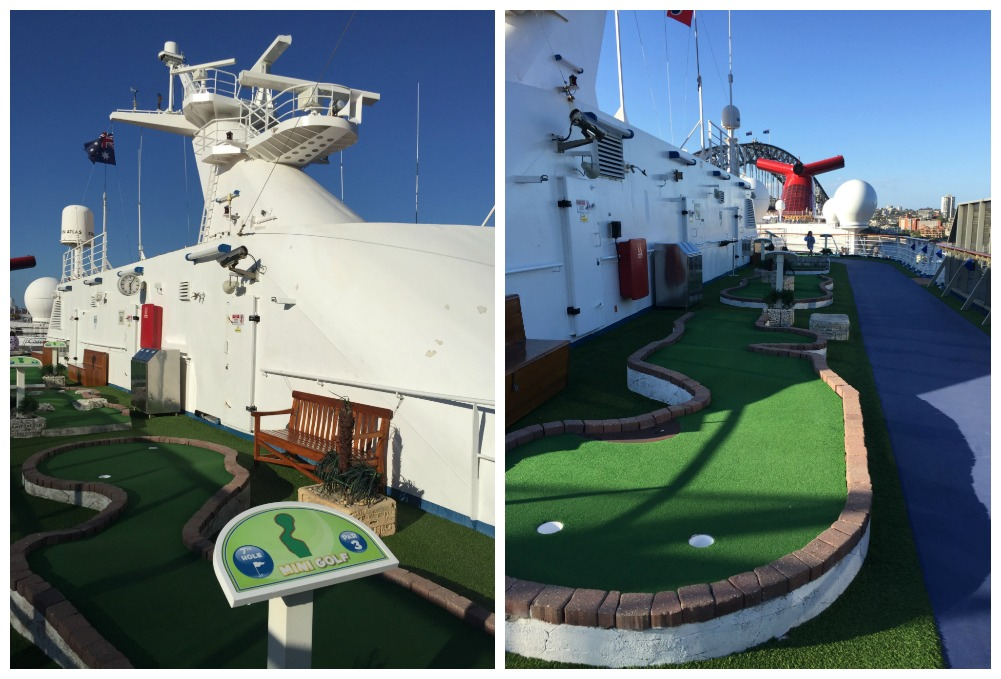Mini-golf on Carnival Legend