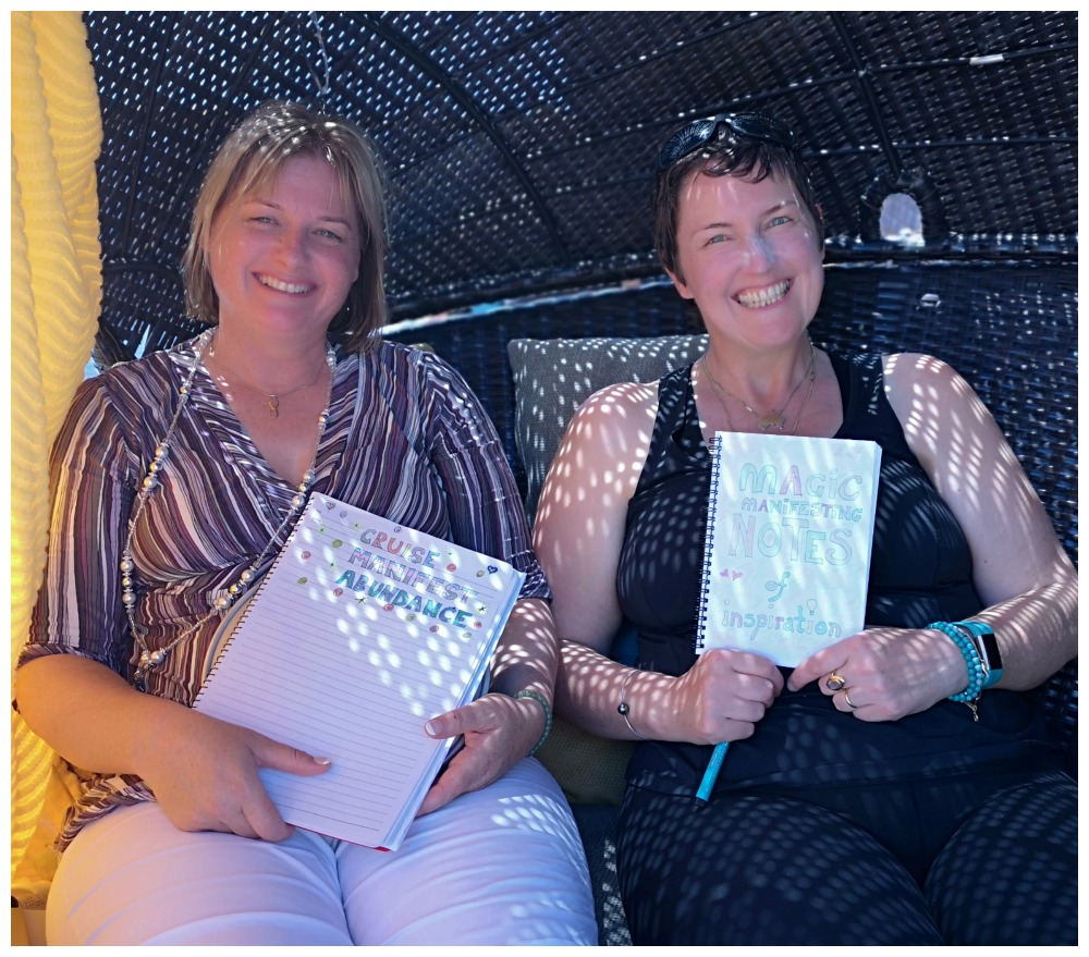 Moni & Sue-Ellen masterminding on Carnival Legend