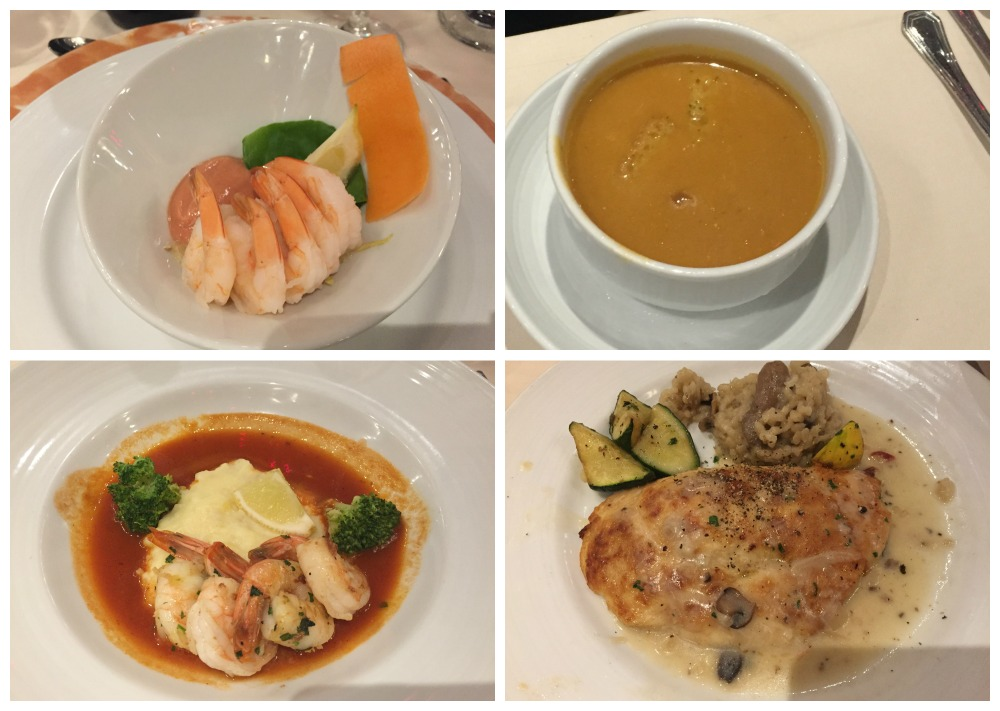Selection of dinner meals