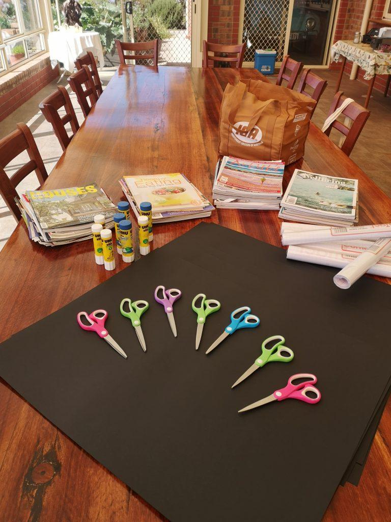 Setup for the Vision Board Workshop